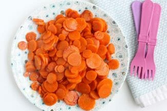 sauteed carrots on a plate