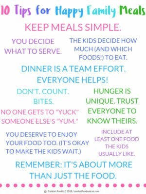 10 Rules for Happy Family Meals