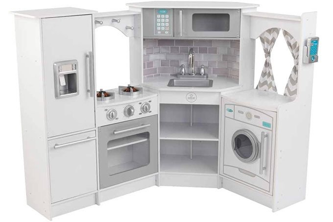 kidskraft corner play kitchen in white