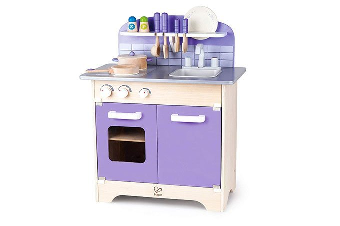 hape gourmet kitchen set for kids in purple