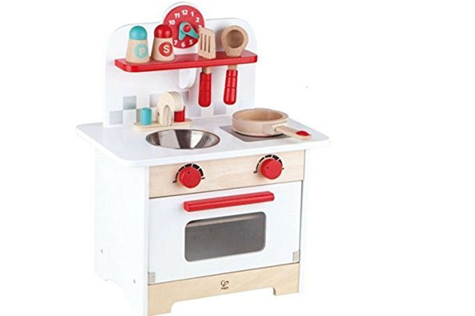 Hape kitchen set red