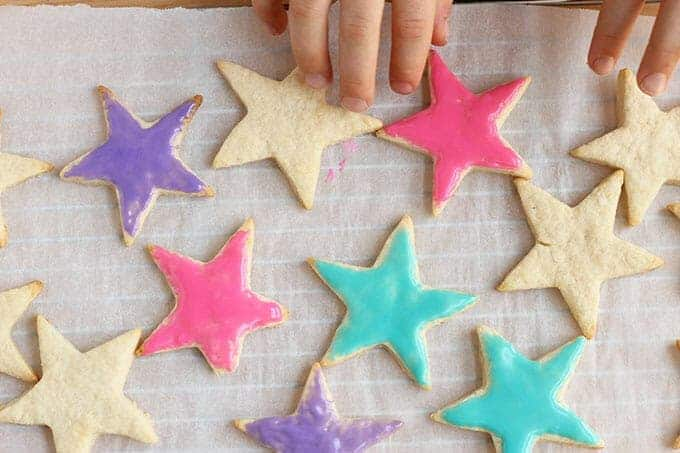 healthy sugar cookies with icing