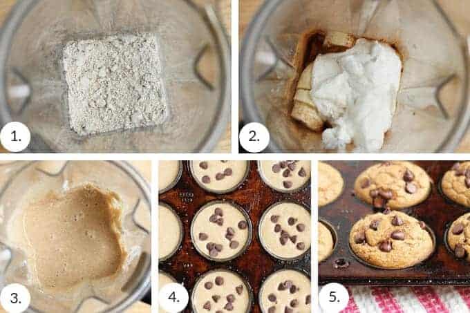 how to make banana oatmeal muffins step by step
