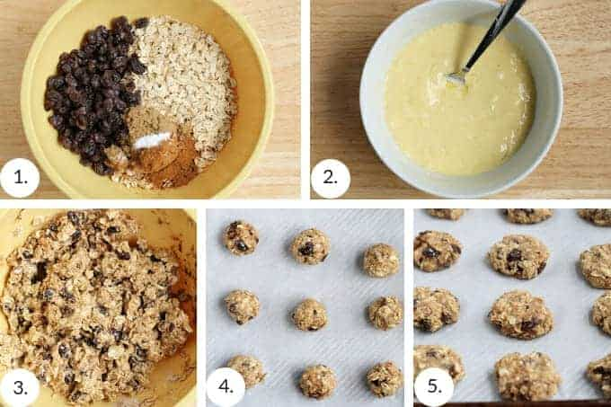 how to make healthy oatmeal raisin cookies step by step