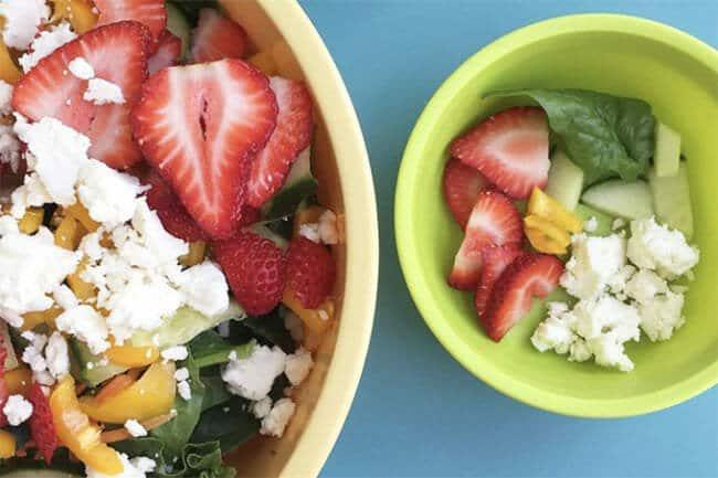 kids salad with fruit