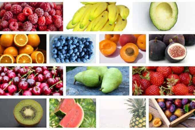 master list of fruit for kids