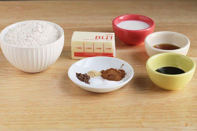 ingredients in easy gingerbread cookies