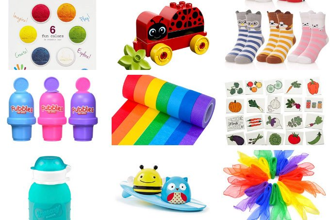 stocking stuffers for toddlers in grid of 6
