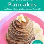 vegan banana pancakes pin