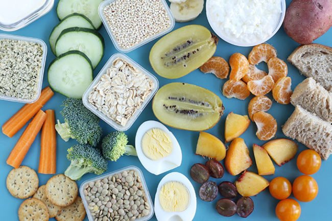healthy foods for kids and toddlers on cutting board