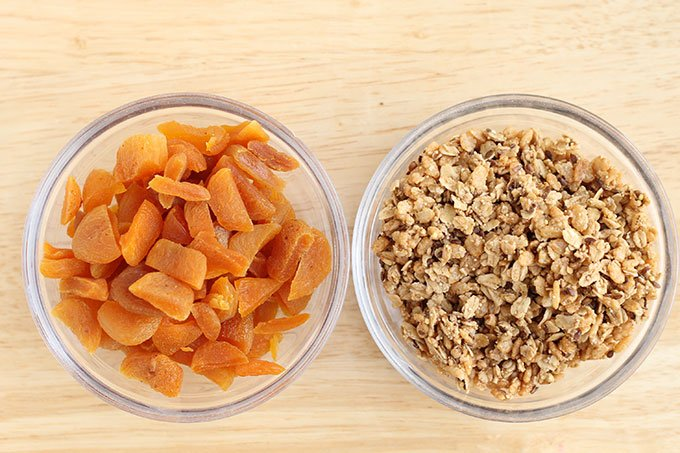 apricots and granola