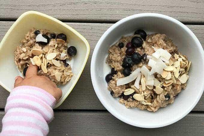 blueberry oatmeal family breakfast