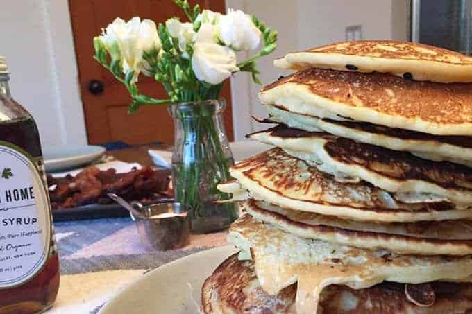 holiday hosting with pancakes