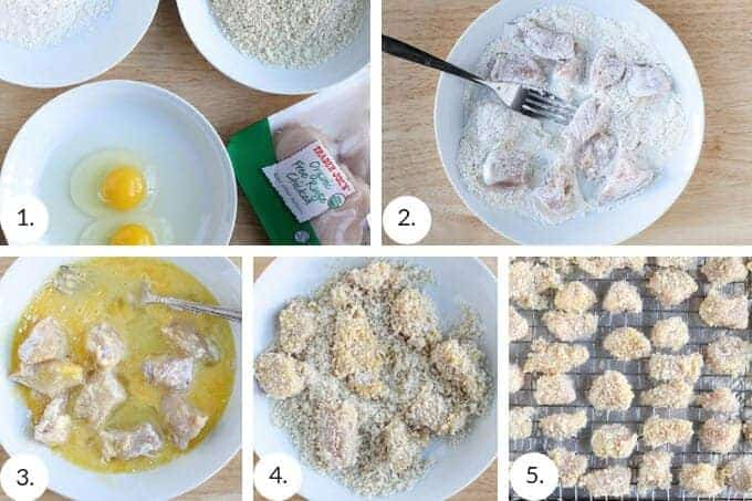 how to make baked chicken nuggets step by step process