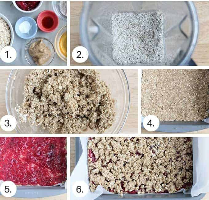 how to make healthy breakfast bars step by step