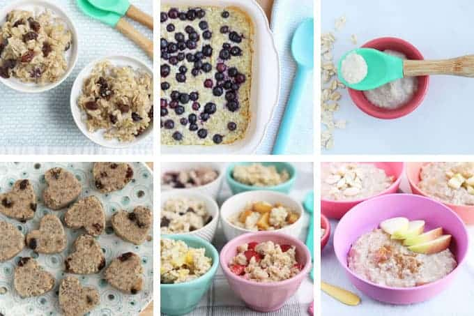 oatmeal recipes for kids in grid of 6