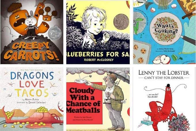 toddler books about food in grid
