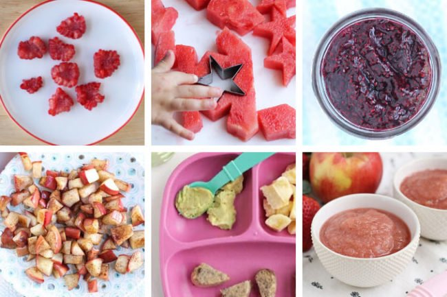 fruit list for kids in grid of 6 images