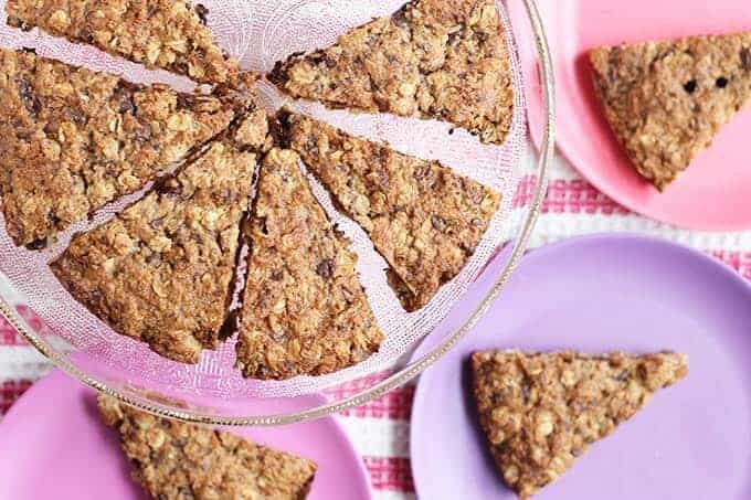 healthy chocolate chip oatmeal cookie cake
