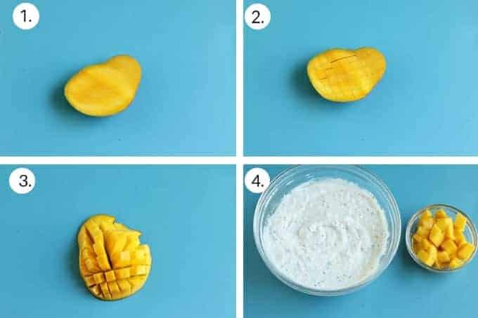 how to make mango overnight oats with yogurt step by step