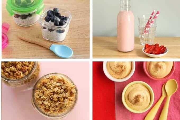 kids-breakfast-ideas-with-yogurt-in-grid