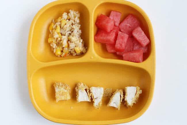 toddler plate of dinner