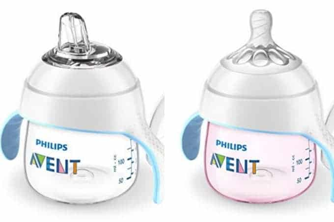 avent trainer cup in clear and pink