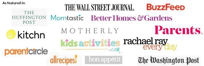 media logos including hugg post and motherly