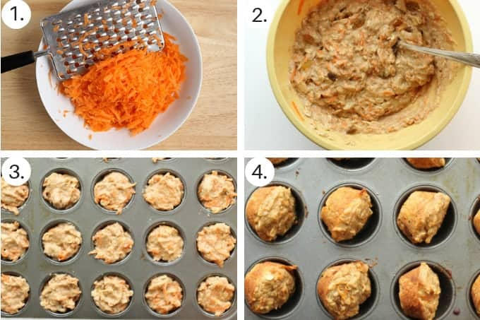 how to make carrot cake step by step grid