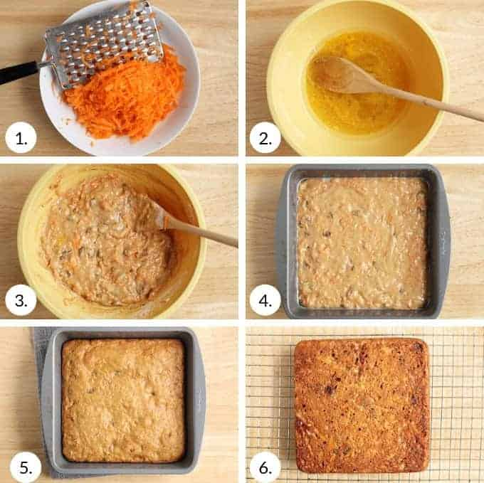 how to make carrot cake bars step by step
