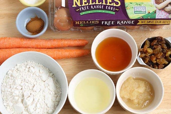 ingredients in carrot cake bars