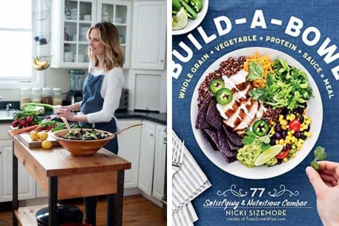 nicki sizemore author image and cookbook cover