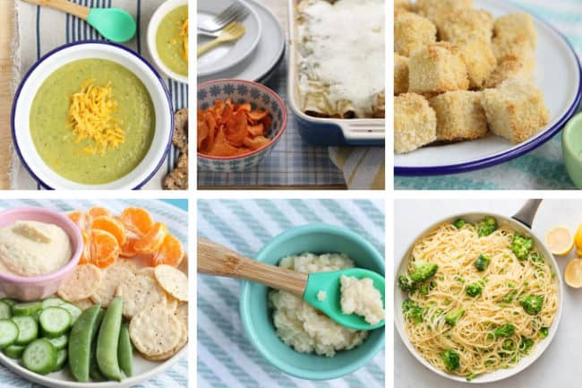 grid of healthy family dinner recipes