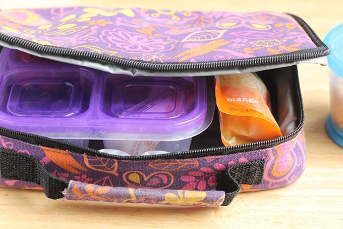 applesauce ice pack in kids lunch cooler