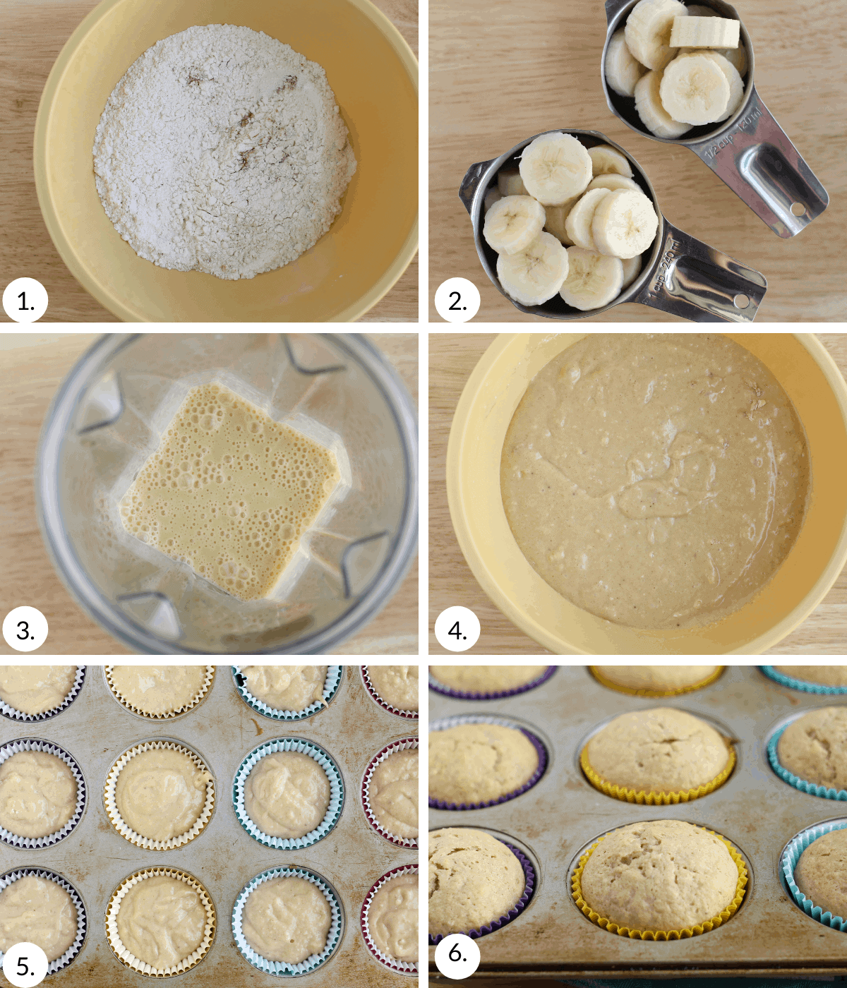 how to make banana cupcakes step by step
