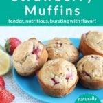 strawberry muffins pin