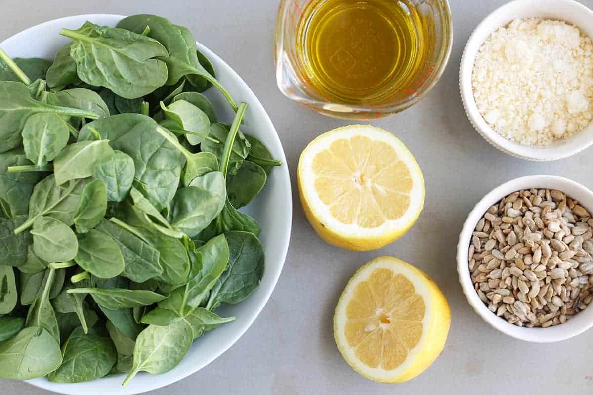 ingredients-in-spinach-pesto