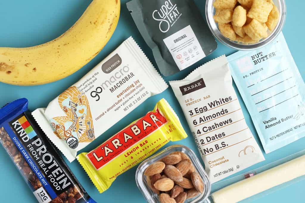 breastfeeding snacks ob blue cutting board