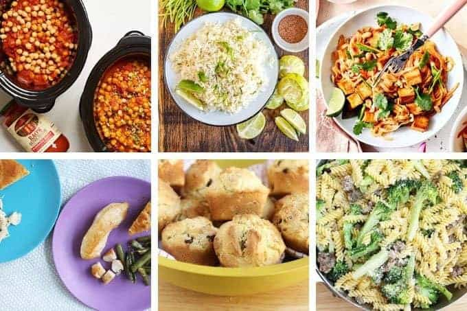 family meal plan dinners in grid