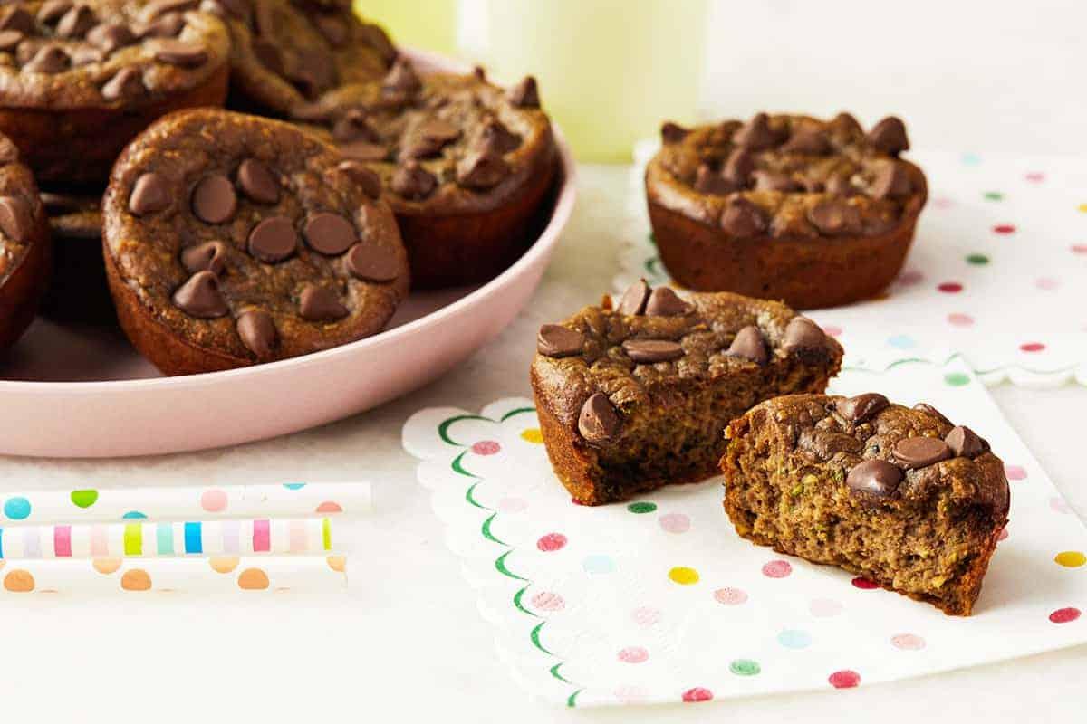 chocolate-protein-muffins-on-napkin