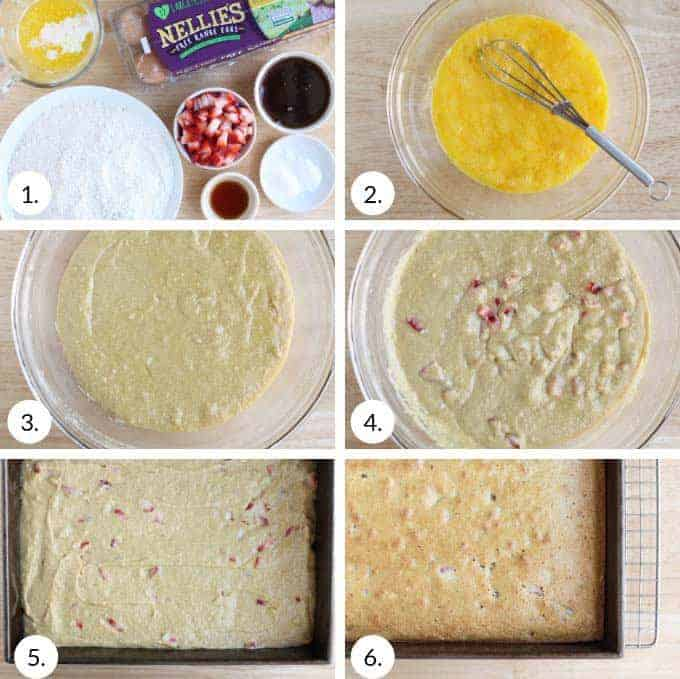 how to make strawberry cake step by step process