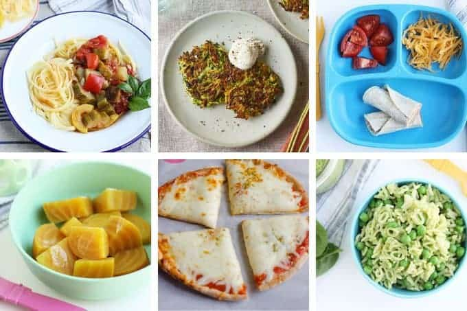 week 27 dinners in grid of 6