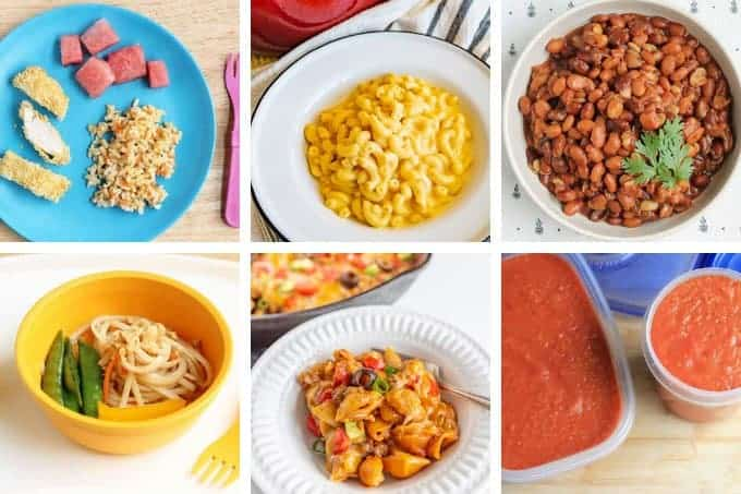 week 30 meal plan dinners in grid