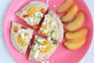 Quick & Easy Greek Pita Pizzas