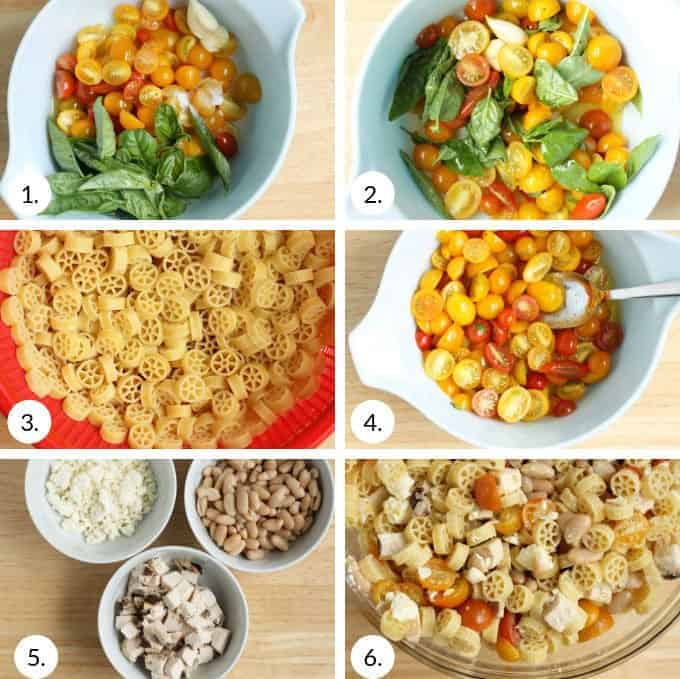 how to make healthy pasta salad step by step