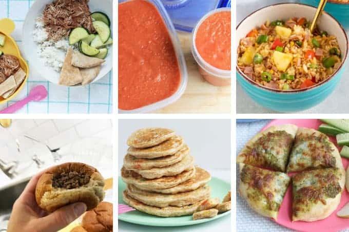 august-week-2 meal plan grid