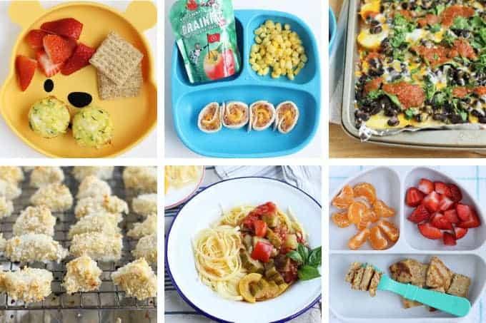 august-week-4 meal plan grid of images