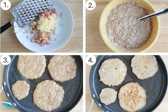 how to make apple pancakes step by step