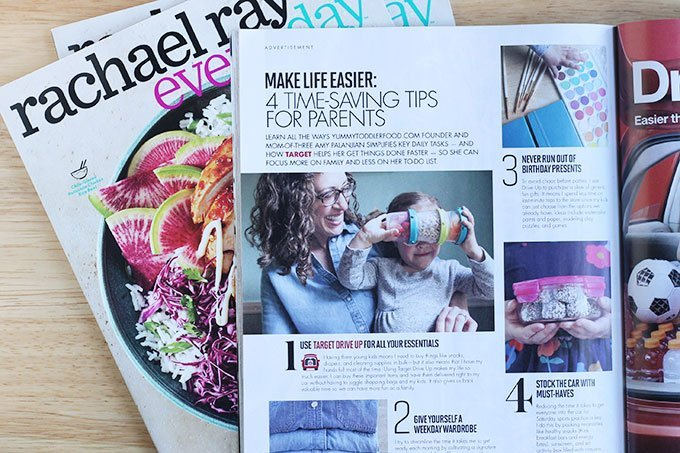 rachel ray magazine with Amy on table