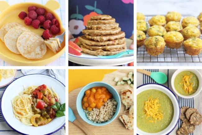 fall meal plan image with 6 squares